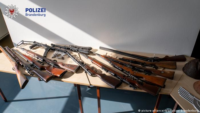 Weapons seized in the raid