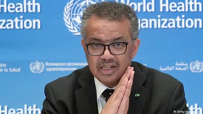 WHO in Genf | Coronavirus | Tedros Adhanom Ghebreyesus (Getty Images/AFP)
