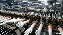 BdTD China Produktion von medizinischen Handschuhen