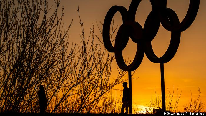London Olympische Ringe im Park von Stratford (Getty Images/J. Setterfield)