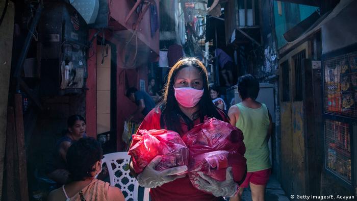 Virus coroan di Filipina (Getty Images/E. Acayan)