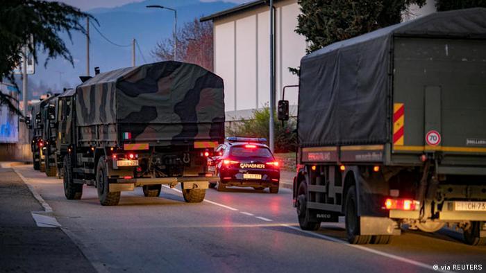 Military trucks in Bergamo
