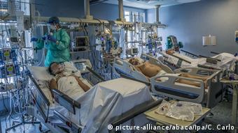 Палата для больных COVID-19 в одной из клиник в Италии