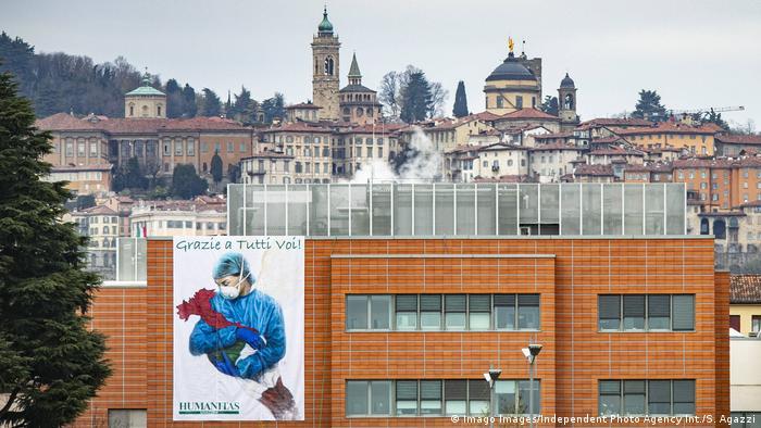 Italien Poster für Solidarität in Bergamo