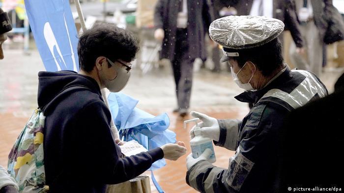 Japan Desinfektion der Hände
