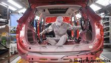 China Wuhan Wiederaufnahme Autoproduktion