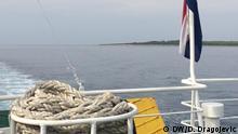 Der Blick von der Fähre nach Korcula, Kroatien Copyright: D. Dragojevic/DW Einschränkung: Nur für die abgesprochene Berichterstattung!
