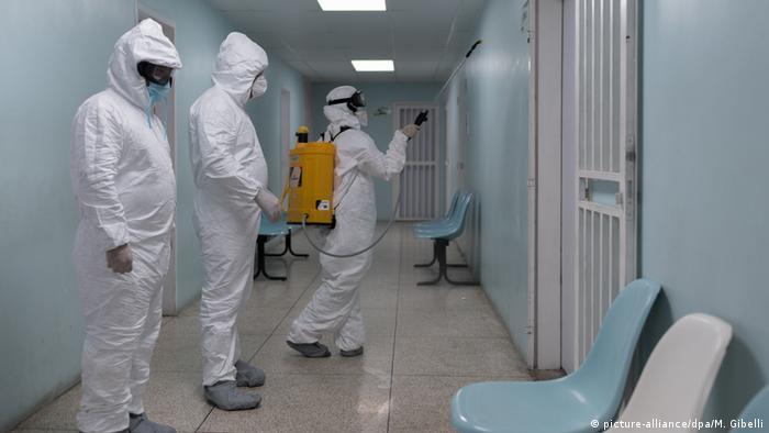 Venezuela Coronavirus Desinfektion Krankenhaus