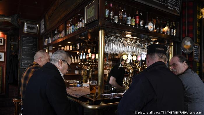 Stockholm Coronavirus pub (picture-alliance/TT NYHETSBYRAN/A. Lorestani)
