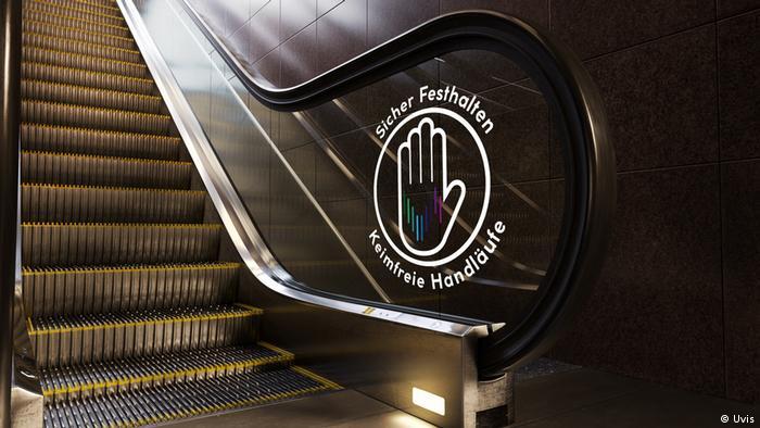 Rolltreppe mit keimfreien Handläufen