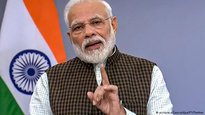 Coronavirus - Indiens Premierminister Narendra Modi (picture-alliance/dpa/PTI/Twitter)
