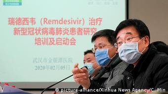 China Wuhan FEBRUAR | Coronavirus | Wang Chen (picture-alliance/Xinhua News Agency/C. Min)
