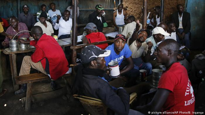 Eine Bar im Kibera-Slum in Nairobi