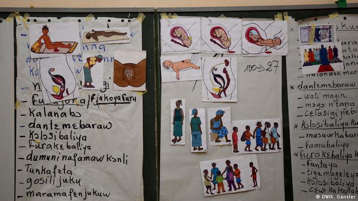 Aufklärungstafeln in Mali
