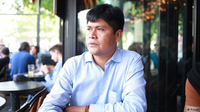 Alex Villca, vocero de la Coordinadora Nacional de Defensa de los Territorios Indígenas Originarios Campesinos y Áreas Protegidas de Bolivia(CONTIOCAP).