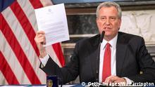 USA: New York - Bill De Blasio - PK Coronavirus