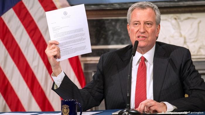 USA: New York - Bill De Blasio - PK Coronavirus (Getty Images/W. Farrington)