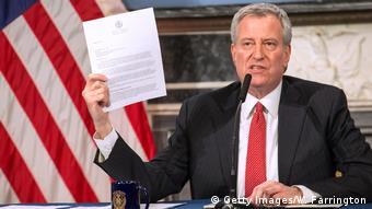USA: New York - Bill De Blasio - PK Coronavirus
