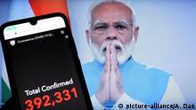Indien, Kalkutta: Premierminister Narendra Modi verkündet Lockdown