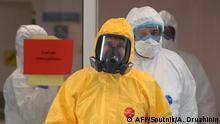 Coronavirus Russland Moskau Präsident Putin besucht Krankenhaus