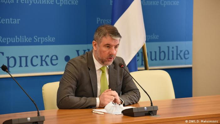 Alen Seranic, der Minister für die Gesundheit in Republika Srpska