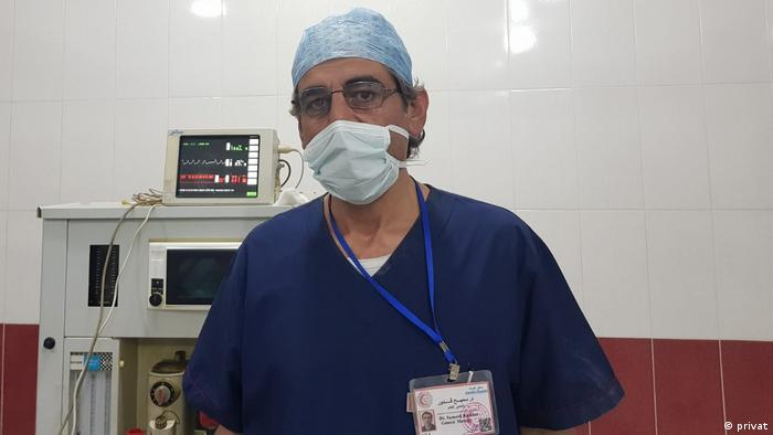 Dr. Sameeh Qaddour, a Syrian physician, in a hospital in Idlib (privat)