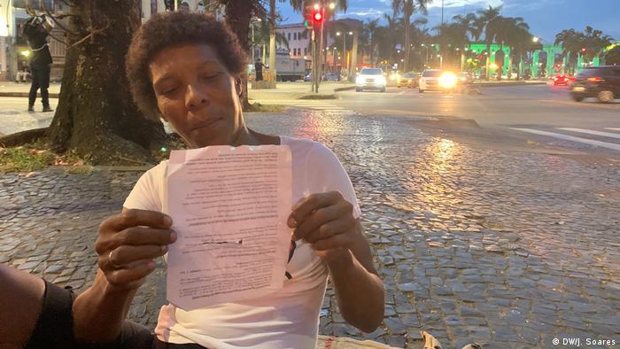 Celia Regina Figueiredo, moradora de rua Rio de Janeiro