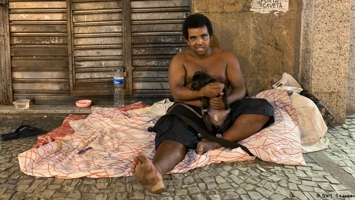 Paulo dos Santos, morador de rua do Rio de Janeiro