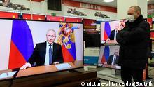 Russland Simferopol | Coronavirus | TV-Ansprache Putin