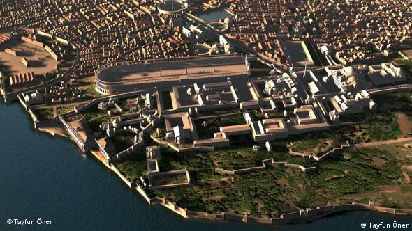 Константинополь с высоты птичьего полета. Компьютьерная реконструкция