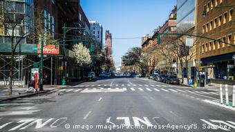 Пустая улица Нью-Йорка