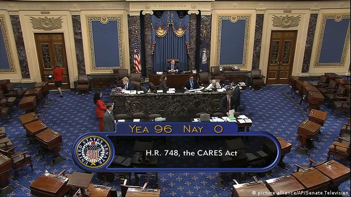 Сенатори одноголосно ухвалили пакет фінансової допомоги