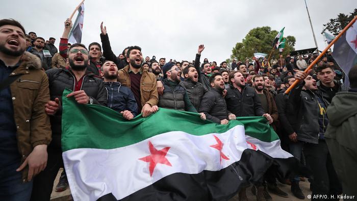Syrien Idlib 9. jahrestag der syrischen revolution