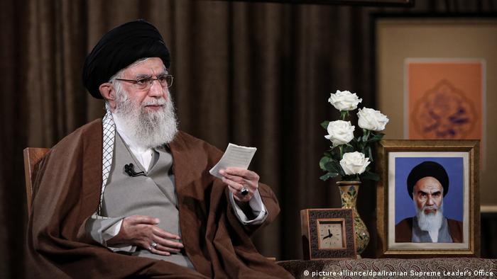Ayatollah Ali Khamenei gives a speech in Tehran about the coronavirus (picture-alliance/dpa/Iranian Supreme Leader's Office)