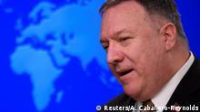 USA Washington | Außenminister Mike Pompeo während Pressekonferenz
