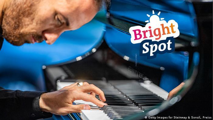 Pianist Igor Levit playing the piano