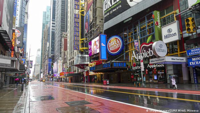 USA New York   Coronakrise: Leere Strassen