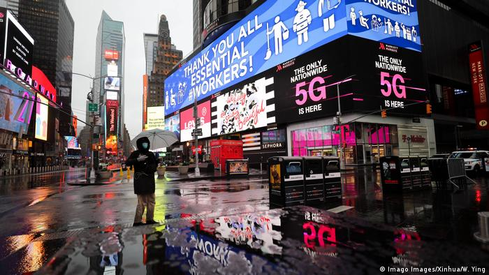 Times Square in New York City during the coronavirus outbreak