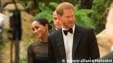 Großbritannien London 2019 | Premiere The Lion King |Prinz Harry & Meghan Markle, Duchess