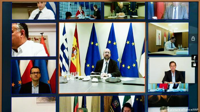 Symbolbild Coronavirus - EU-Videogipfel (picture-alliance/ANP)