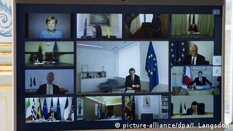 Aπό την πρόσφατη Σύνοδο Κορυφής των ευρωπαίων ηγετών για τον κορωνοϊό μέσω τηλεδιάσκεψης