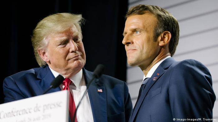 Donald Trump y Emmanuel Macron en la cumbre del G7, en Biarritz 2019.