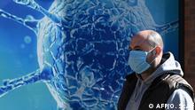Coronavirus Großbritannien Oldham Mann vor Illustration