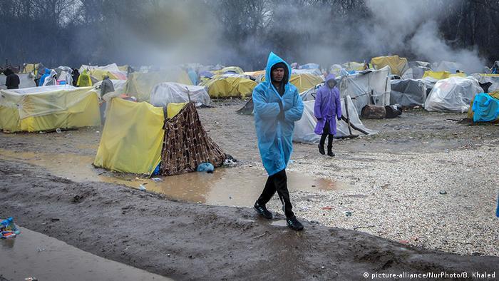 Grenze Türkei Griechenland | Pazarkule-Zentrum | Flüchtlinge (picture-alliance/NurPhoto/B. Khaled)