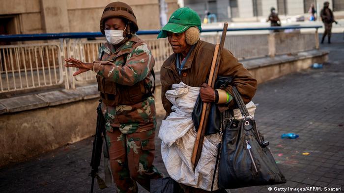Südafrika Johannesburg   Ausgangssperre wegen Coronavirus