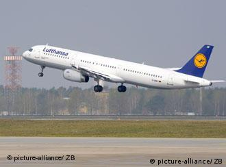 A Lufthansa flight takes off from Berlin
