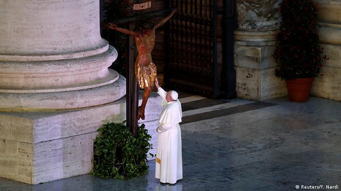 Vatikan | Coronavirus | Papst Franziskus, Gebet Urbi et Orbi (Reuters/Y. Nardi)