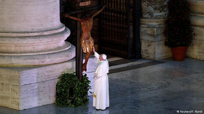 Vatikan   Coronavirus   Papst Franziskus, Gebet Urbi et Orbi