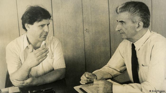 Erol Rizaov und ehemaliger mazedonische Präsident Kiro Gligorov