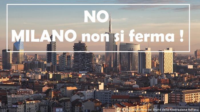 Trecho da campanha Milão não para